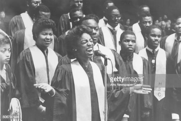 Gospel choir at Morgan State College, Baltimore, Maryland, 1975.