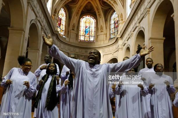Gospel concert in St. Roch church, Paris. France.