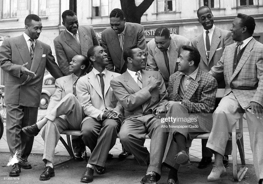 Gospel music group Deep River Boys and Delta Rhythm Boys, 1956 ...