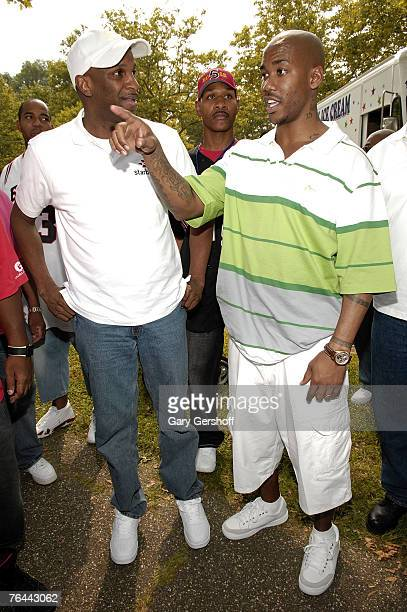 Gospel Singer and Pastor Donnie McClurkin and Pro Basketball Player Stephon Marbury at The New York Call and Youth Xplosion Starbury Giveback Day on...