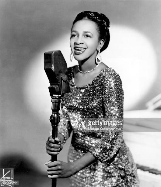 Gospel singer Clara Ward poses for a portrait circa 1955 in New york city New York