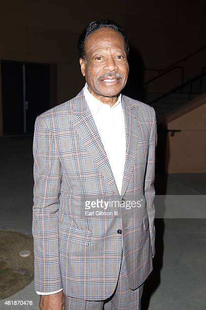 Gospel Singer Edwin Hawkins attends the Andrae Crouch Memorial Celebration Of Life at West Angeles Church of God And Christ on January 20 2015 in Los...