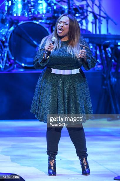 Gospel singer Kierra Sheard performs at the 2017 BMI RB/HipHop Awards at Woodruff Arts Center on August 31 2017 in Atlanta Georgia