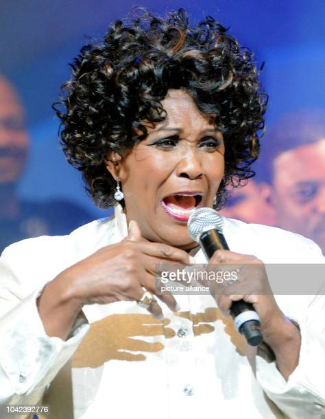 US gospel singer Queen Esther Marrow performs during her concert accompanied by the Harlem Gospelsingers in Duesseldorf Germany 5 January 2013 Photo...