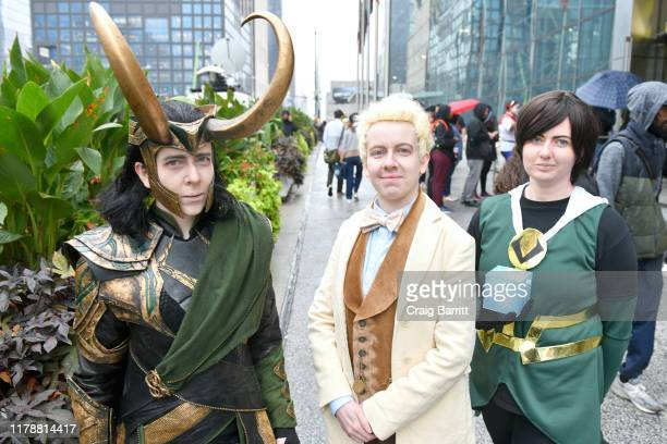 Gosplayers attend the New York Comic Con at Jacob K. Javits Convention Center on October 03, 2019 in New York City.