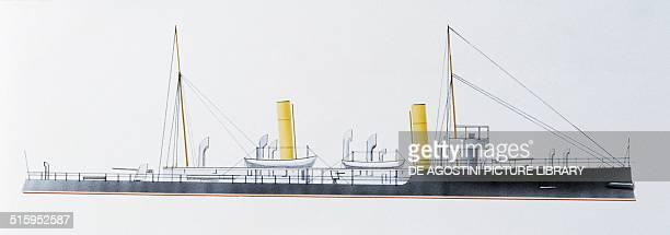Gossamer torpedo gunboat United Kingdom drawing