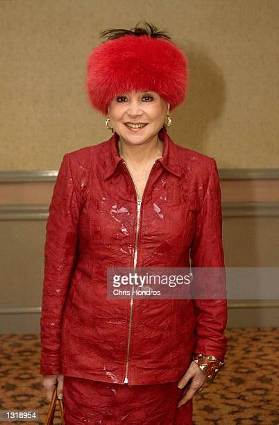 Gossip columnist Cindy Adams arrives to the New York Women in Film and Television luncheon December 14, 2000 in New York City.