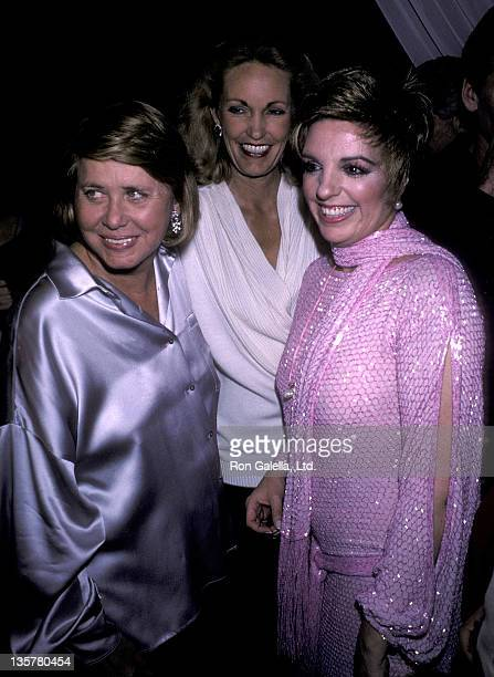 Gossip columnist Liz Smith and actress/singer Liza Minnelli attend Liz Smith's Screening Party for Liza Minnelli's NBC Original Movie A Time to Live...