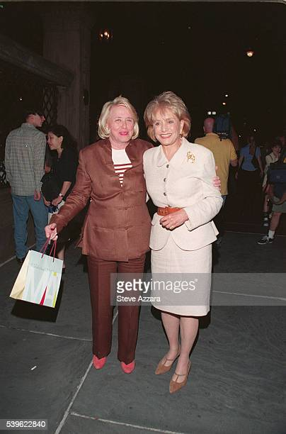 Gossip columnist Liz Smith and newscaster Barbara Walters attend the 25th anniversary party for the Le Cirque and Osteria del Circo restaurants