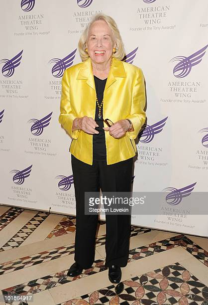 Gossip columnist Liz Smith attends the 2010 American Theatre Wing Spring Gala at Cipriani 42nd Street on June 7 2010 in New York City