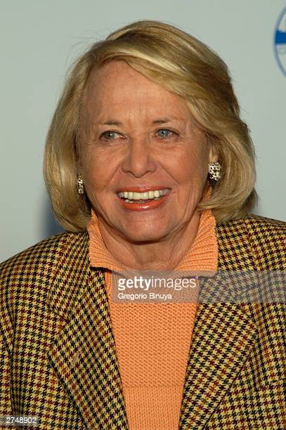 Gossip columnist Liz Smith attends the CityMealsOnWheels 17th Annual Power Luncheon for Women at the Rainbow Room November 20 2003 in New York City...