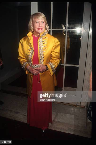 Gossip columnist Liz Smith attends the Humanitarian of the Year Awards May 29 1997 in New York City Media mogul Rupert Murdoch received the 1997...