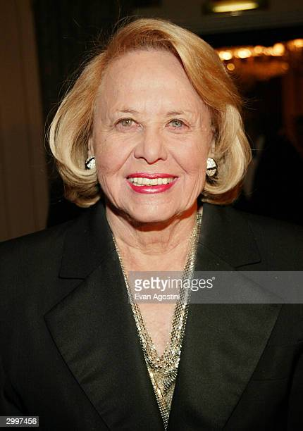 Gossip columnist Liz Smith attends The Museum of Television and Radio's annual gala this year honoring NBC News anchor Tom Brokaw on February 19 2004...