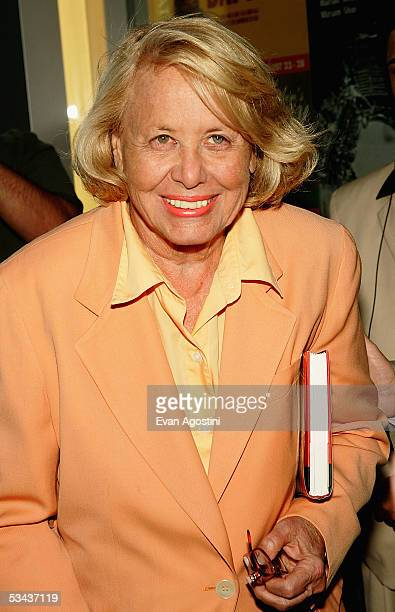Gossip columnist Liz Smith attends the opening night of Dedication Or The Stuff Of Dreams at 59E59 Theaters August 18 2005 in New York City