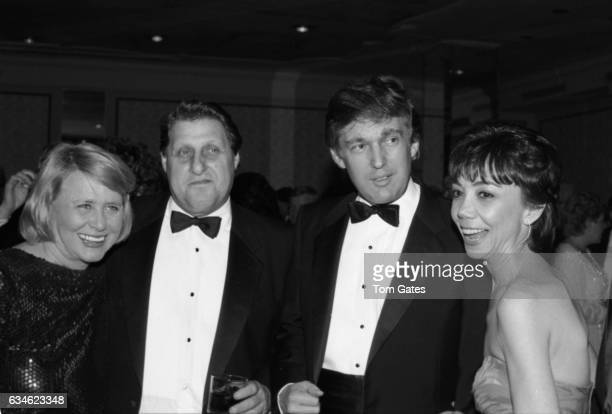 Gossip columnist Liz Smith guest businessman Donald Trump and guest attend the Police Athletic League dinner honoring Donald Trump at the Plaza Hotel...