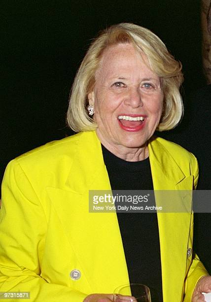 Gossip columnist Liz Smith is on hand for a party at Le Cirque after a screening of the TV movie James Dean