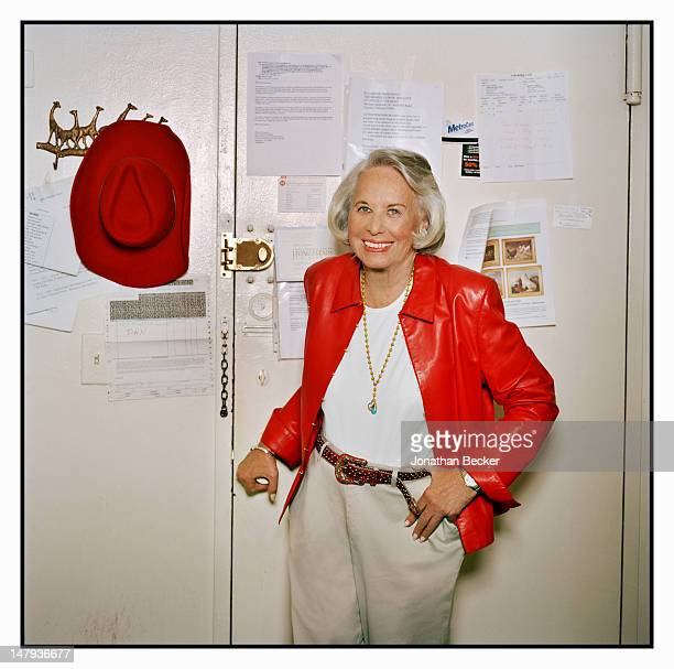 Gossip columnist Liz Smith poses for Vanity Fair Magazine on May 31 2011 at home in New York City