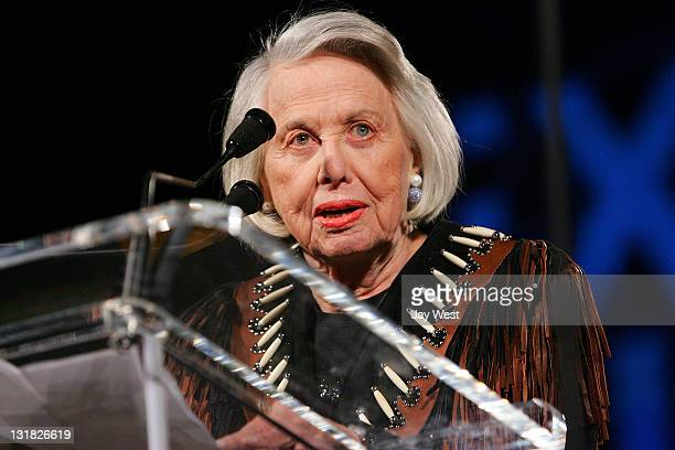 Gossip columnist writter Liz Smith attends the Texas Film Hall Of Fame Awards at Austin Studios on March 10 2011 in Austin Texas