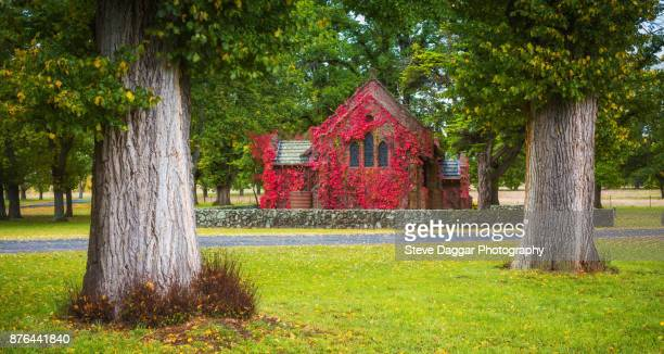 gostwyck chapel - uralla stock photos and pictures
