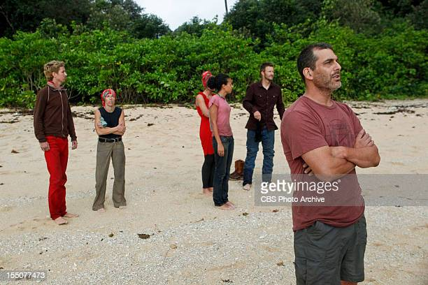 Got My Swag Back Carter Williams Denise Stapley Katie Hanson Sarah Dawson Jeff Kent and Jonathan Penner during the fifth episode of Survivor...
