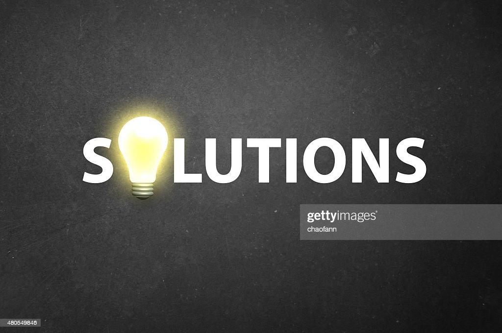 Tem algumas soluções? : Foto de stock