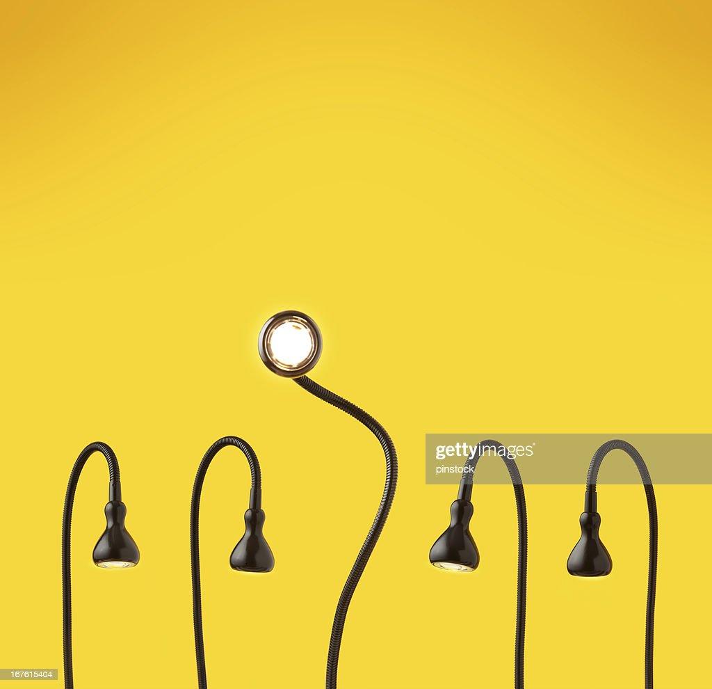 Got the bright idea. : Stock Photo