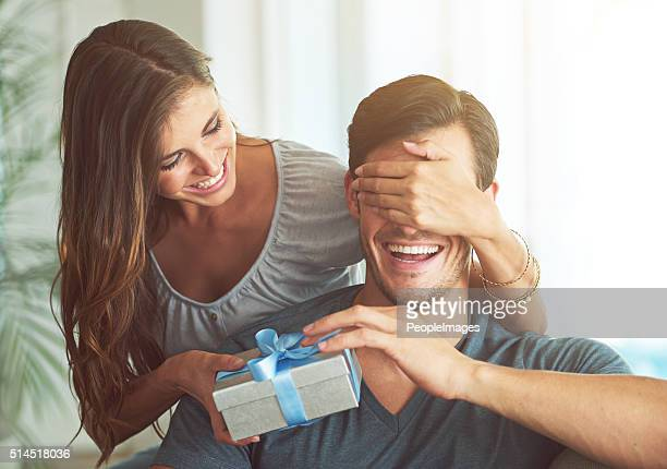 i got you something, honey - giving stock photos and pictures