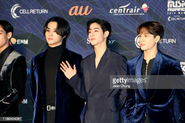 Got7 attends the 2019 Mnet Asian Music Awards at Nagoya Dome on December 4, 2019 in Nagoya, Japan.