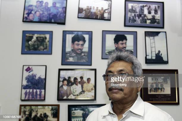 Gotabaya Rajapaksa Sri Lanka's former secretary of defense poses for a photograph at his home in Colombo Sri Lanka on Wednesday Oct 31 2018 In a...