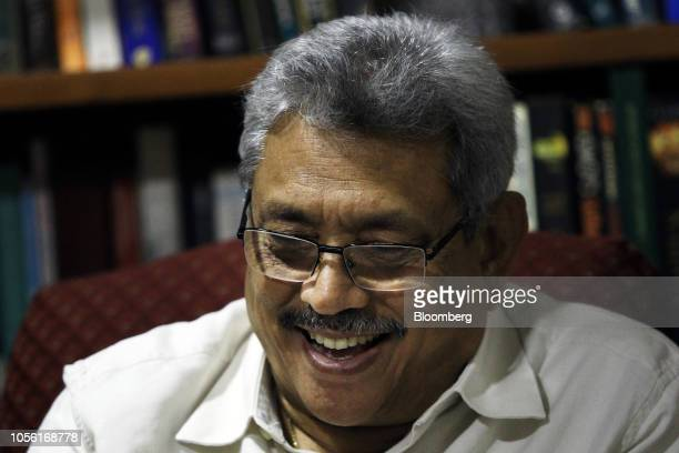 Gotabaya Rajapaksa Sri Lanka's former secretary of defense speaks during an interview at his home in Colombo Sri Lanka on Wednesday Oct 31 2018 In a...
