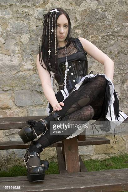 Gótico, hermosa Chica gótico