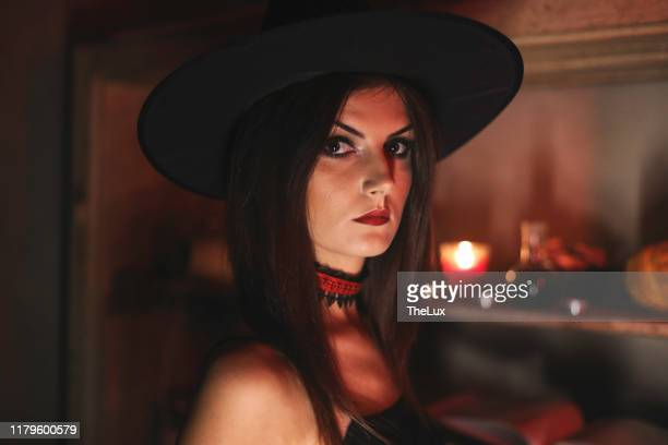 goth girl at a halloween party - young goth girls stock pictures, royalty-free photos & images