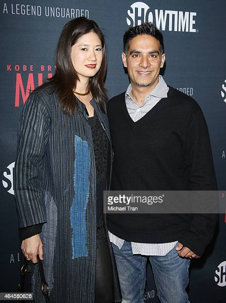 Gotham Chopra and his wife Candice Chen arrive at the Los Angeles premiere of Showtime's documentary Kobe Bryant's Muse held at The London Hotel on...