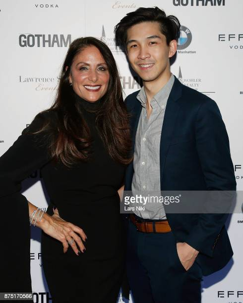Gotham Magazine publisher Lynn Scotti Kassar and Kevin Lin attend the Gotham Men's Issue Celebration at the BMW of Manhattan Showroom on November 16...