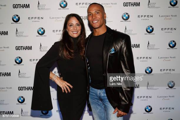 Gotham Magazine publisher Lynn Scotti Kassar and Mike Woods attend the Gotham Men's Issue Celebration at the BMW of Manhattan Showroom on November 16...