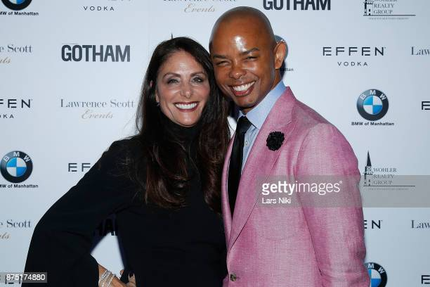 Gotham Magazine publisher Lynn Scotti Kassar and Spencer Means attend the Gotham Men's Issue Celebration at the BMW of Manhattan Showroom on November...