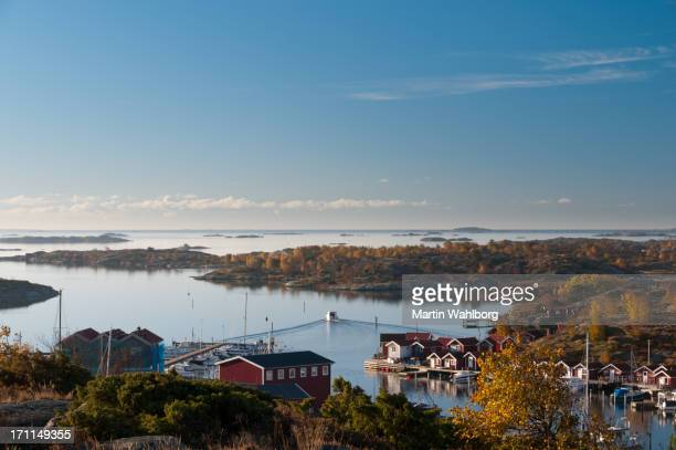 Gothenburg archipelago in hazy morning light