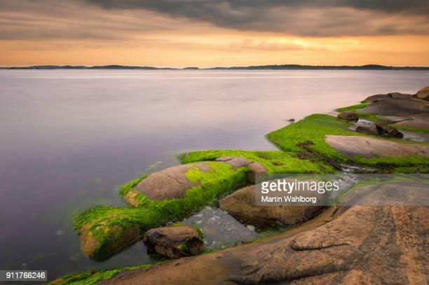 Göteborg kustlijn zonsondergang