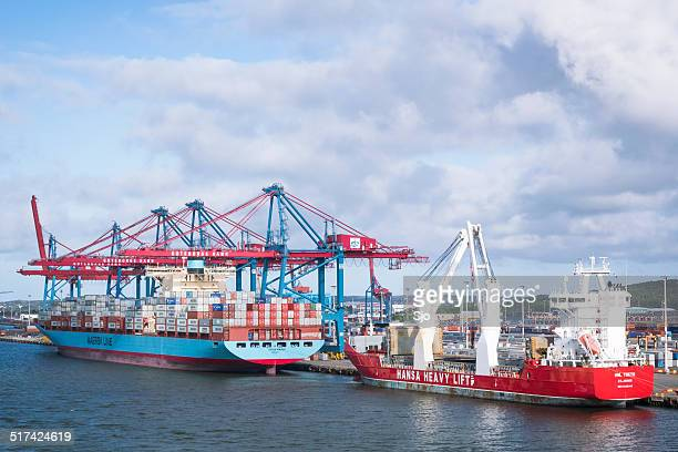 gothenburg container terminal - maersk stock pictures, royalty-free photos & images