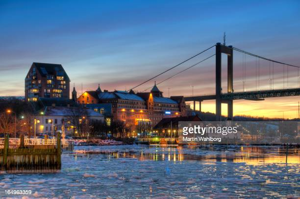 gothenburg harbor in winter - gothenburg stock pictures, royalty-free photos & images