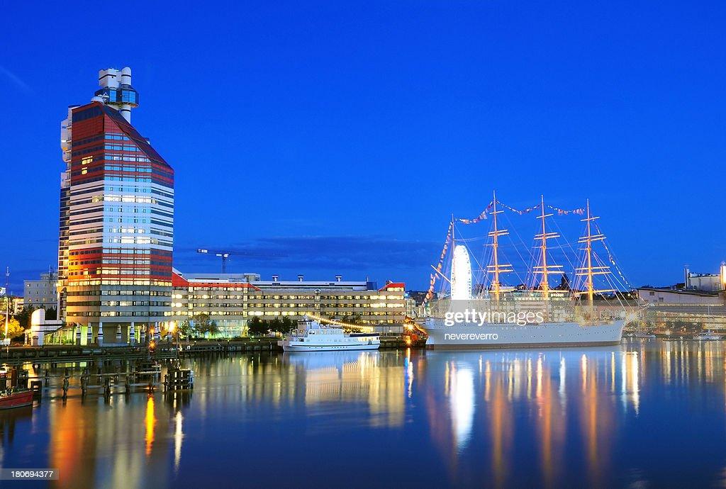 Gothenburg in Night : Stock Photo