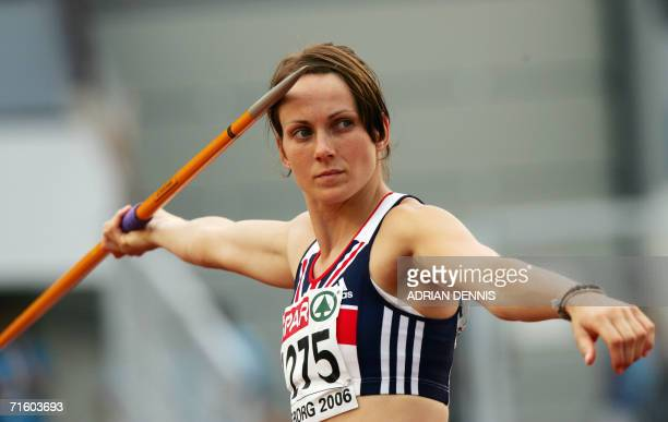 Britain's Kelly Sotherton competes during the Women's Javelin Group A in Heptathlon at the 19th European Athletics Championships in Gothenburg Sweden...