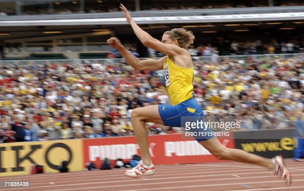 Sweden's Christian Olsson competes during the Men's Triple Jump final at the 19th European Athletics Championships in Gothenburg Sweden 12 August...