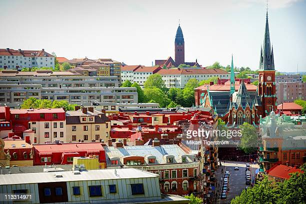 gothenburg view over linnestaden - gothenburg stock pictures, royalty-free photos & images