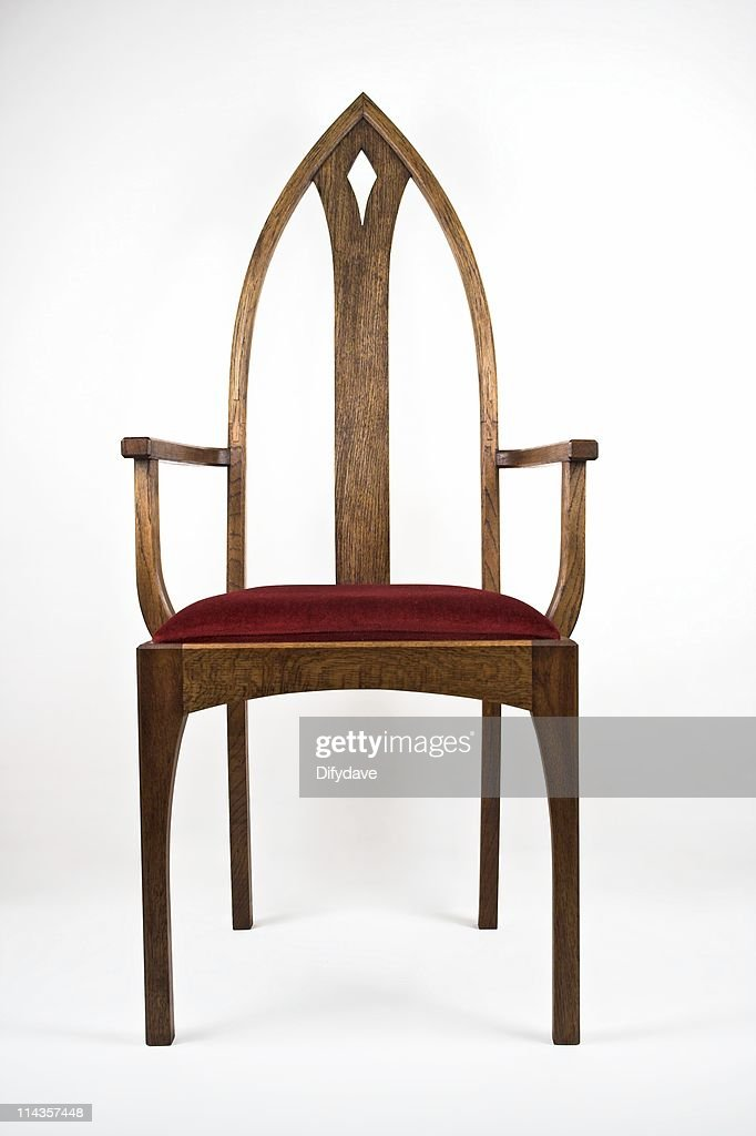 Gothic Arch Back Dining Chair In Oak High Res Stock Photo Getty Images