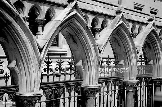 gothic arches - synagogue stock photos and pictures