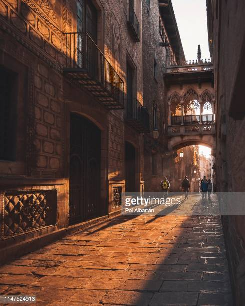 gothic architecture in barcelona - barcelona spain stock pictures, royalty-free photos & images