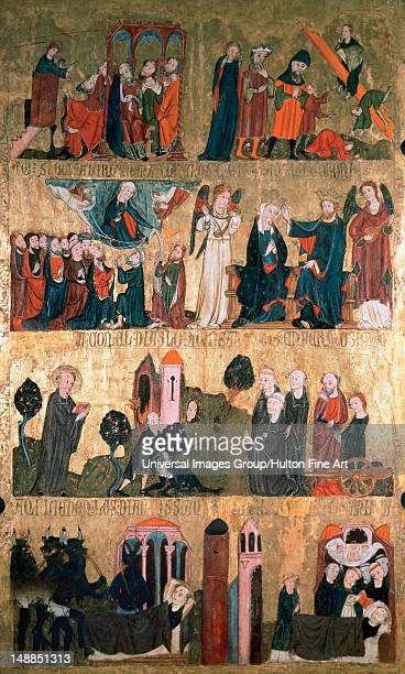 Gothic art St Emilian tables It represents scenes from the life of St Emilian and the Virgin Late 14th century Tempera Inside of the right door of...