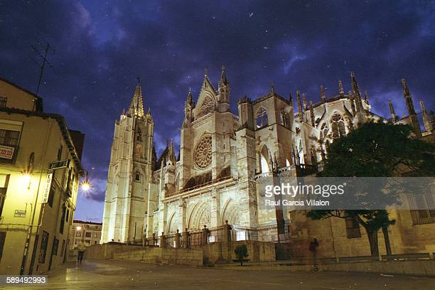 Gothic cathedral of Leon, Spain
