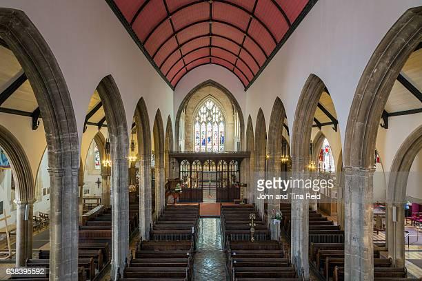 gothic interior - cardiff wales stockfoto's en -beelden